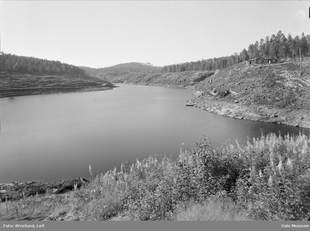 vann, reservoar for Bærum vannverk, skog, hus