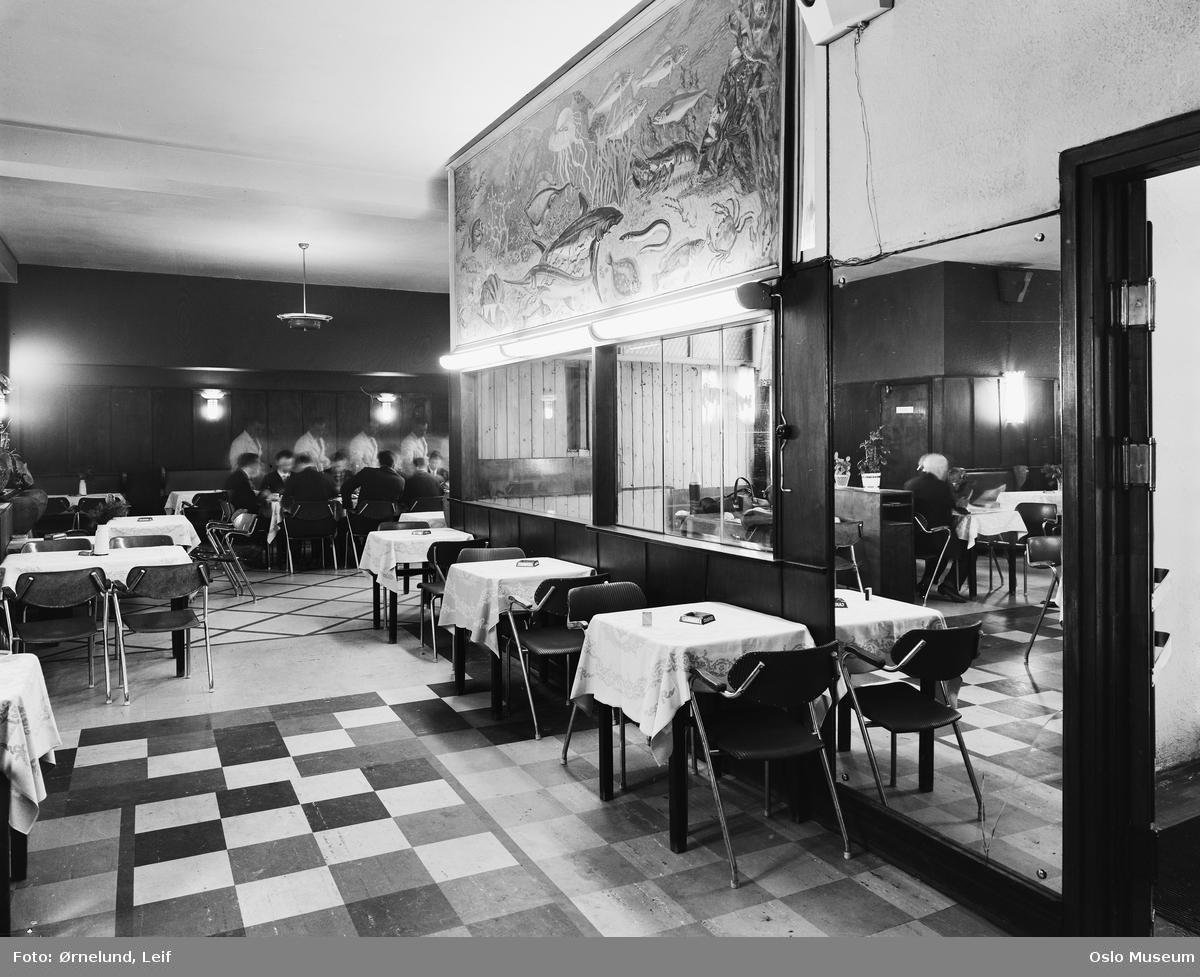 Sinsen restaurant, interiør