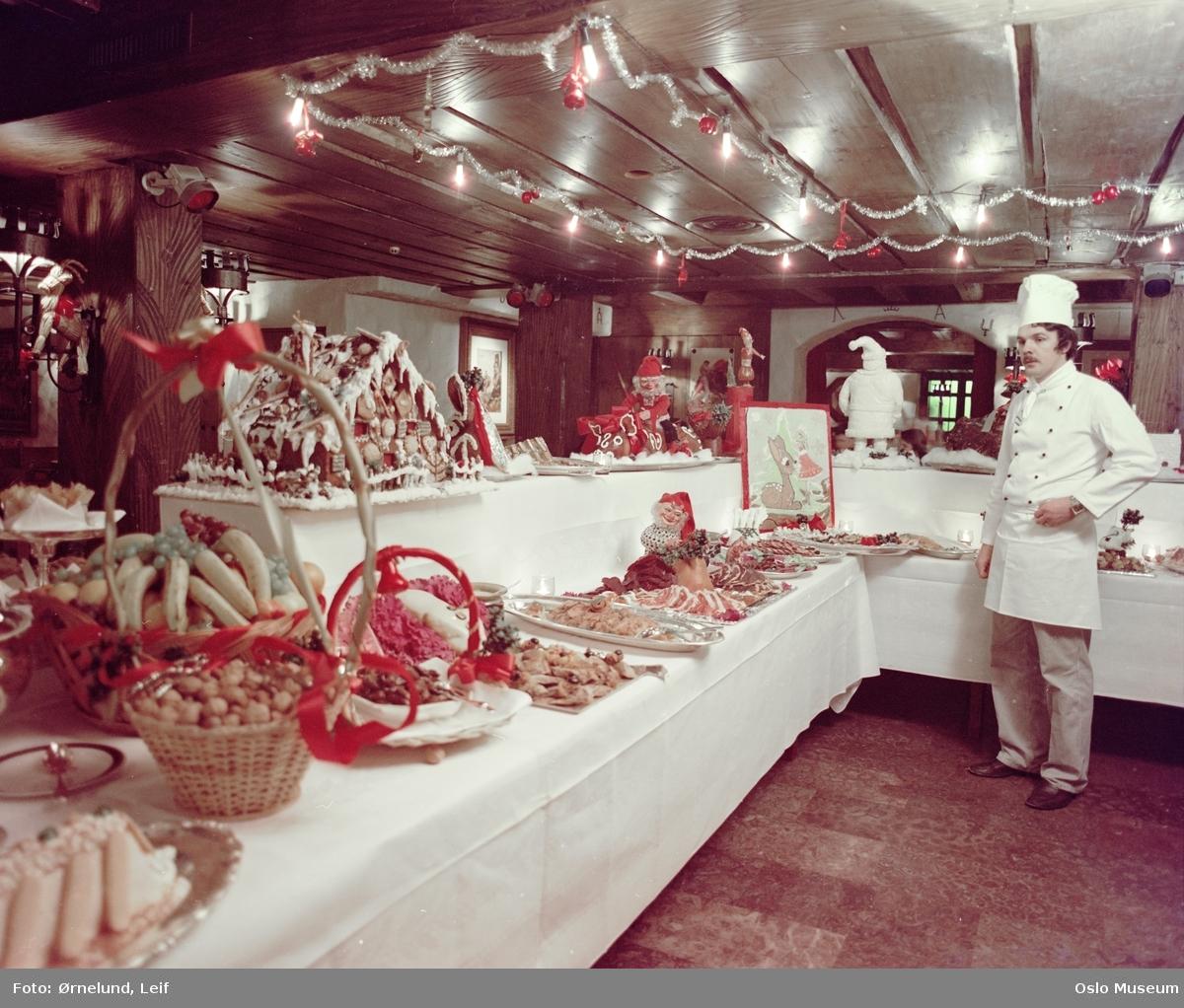 Hotel Bristol, interiør, restaurant, julebord, koldtbord, kokk