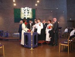 Den norske kirke, Østenstad kirke, interiør, eksteriør, sere