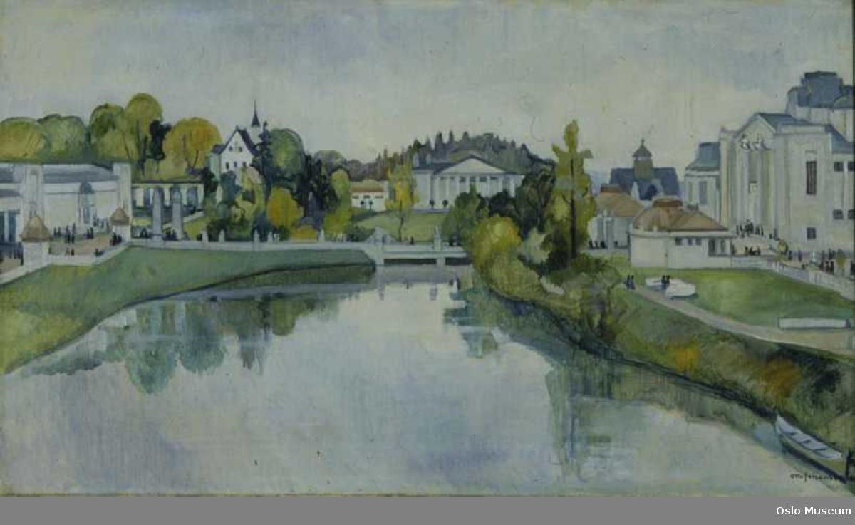 arkitektur, parkanlegg, dam, Jubileumsutstillingen på Frogner