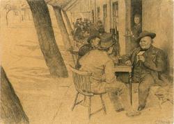 Fortaus-servering på Engebrets Kafé [kafé-miljø]