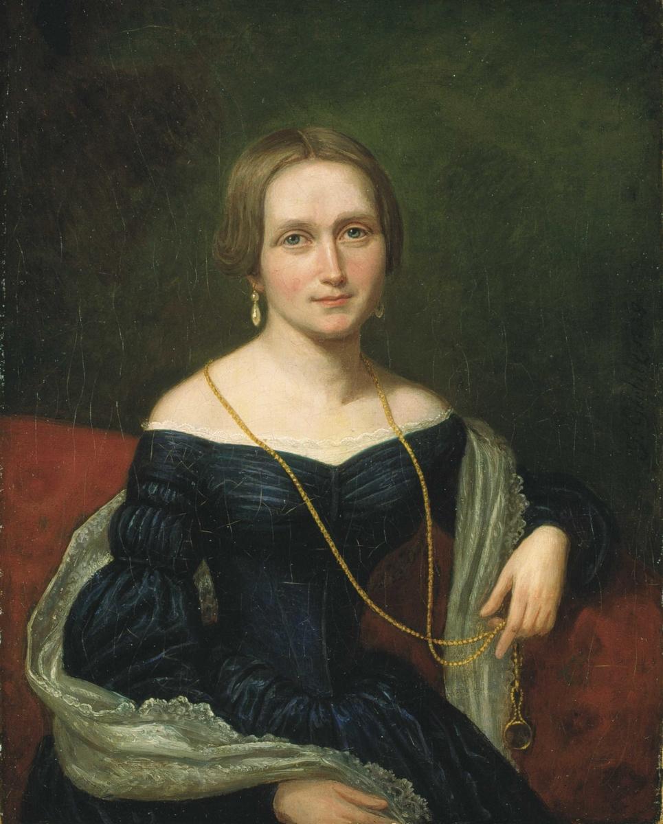 Portrett av Camilla Collett, født Wergeland [oljemaleri]