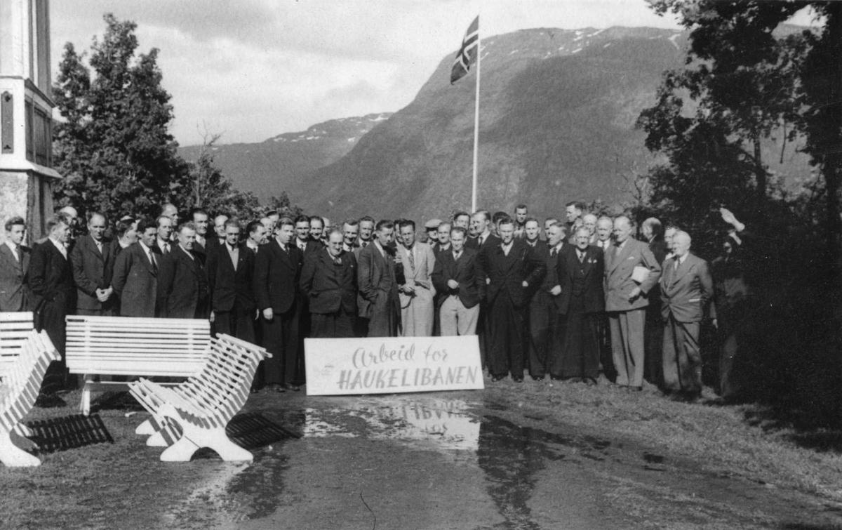 Haukelibanen. Røldalsmøtet 1946.
