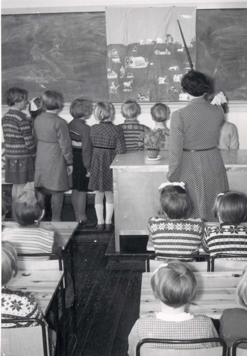 Interiør - Undervisning på Hauge skole.