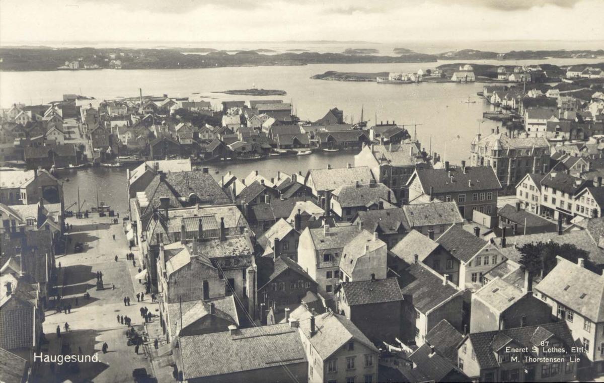 Flyfoto - Bybilde - Havn.