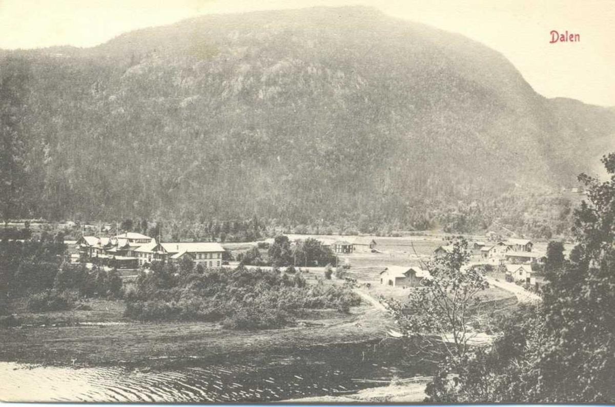 Dalen Hotel, utsikt mot Dalen og Bandak. l