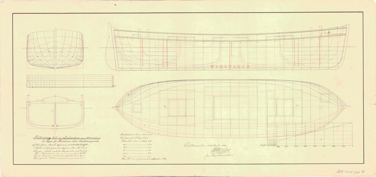 Plan, längd och sektionsritning
