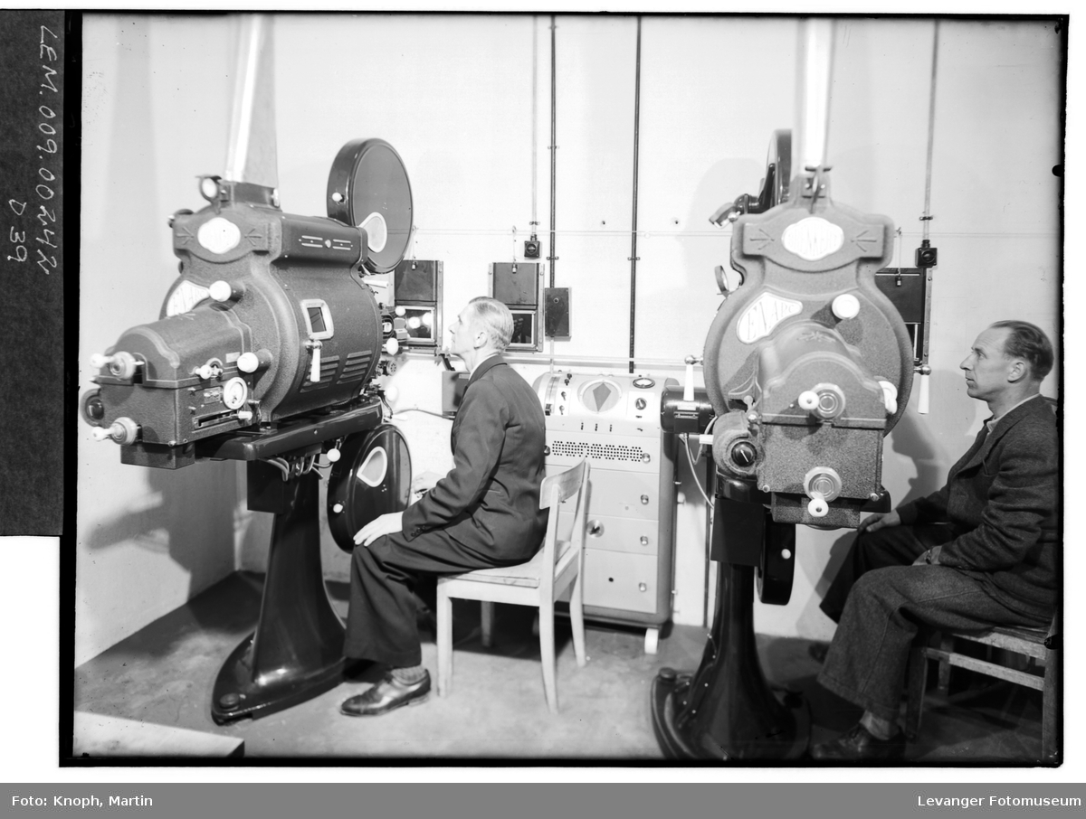 Maskinrommet i Steinkjer Kino.  III