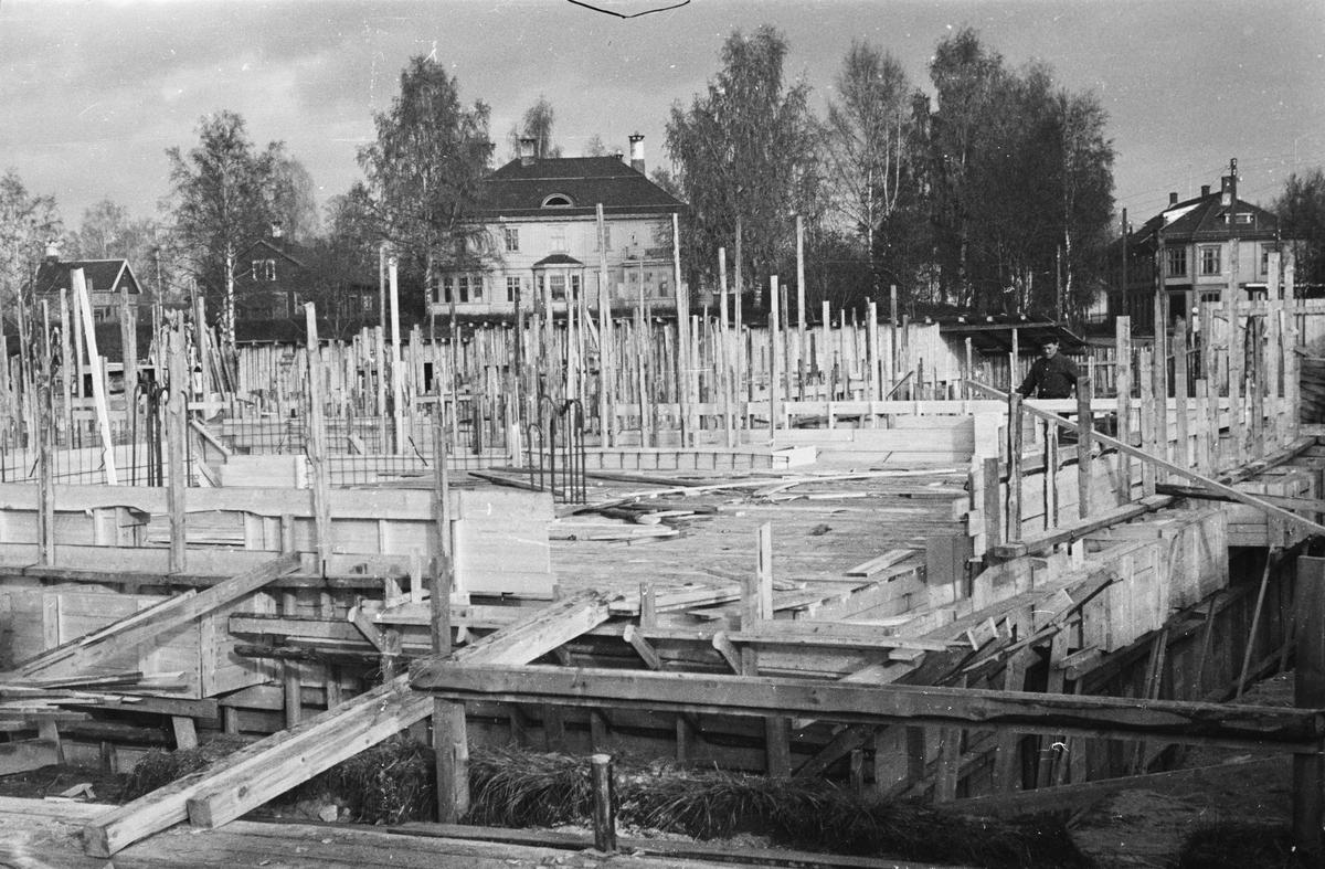 Bygging av Arkaden. Elverum.