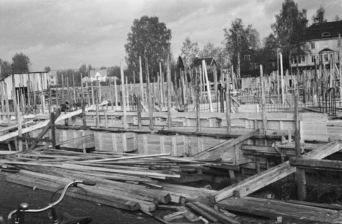 Bygging av Arkaden, Elverum.