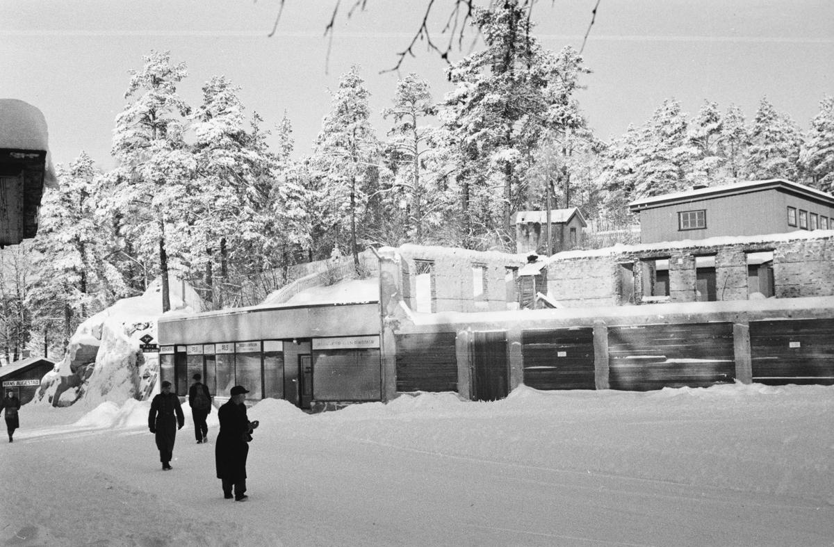 Storgata, Leiret. Elverum. Ruiner. Pedersengården.
