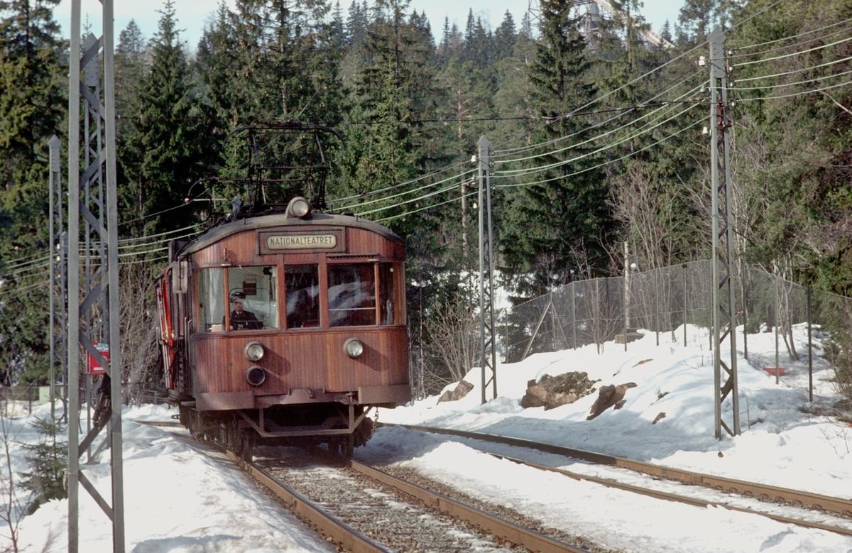 A/S Holmenkolbanen. Holmenkollbanen. Vogn 601, type 1951 (Skabo, NEBB)