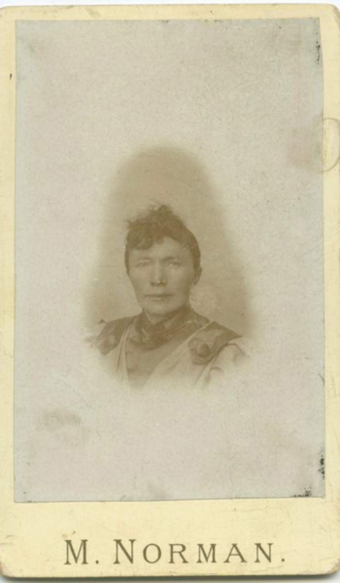 Hanna Norman. Stemplet: M. NORMAN