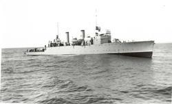 Motiv: Torpedobåten SNØGG - Styrbord litt ovenfra.Indre Havn