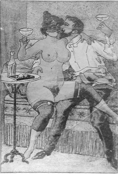 naken bergen erotiske tegninger