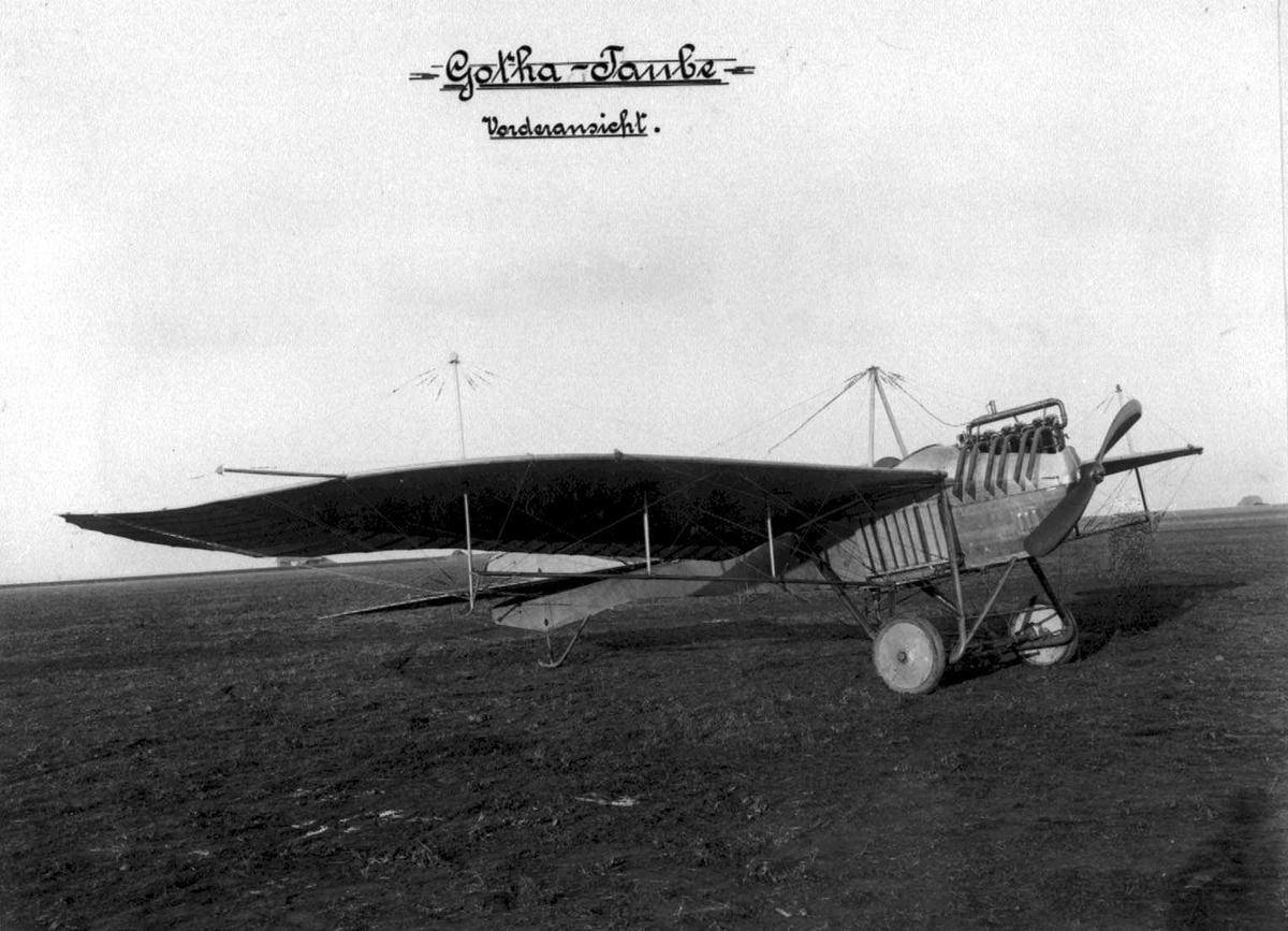 """Ett fly på bakken, Gotha """"Taube"""