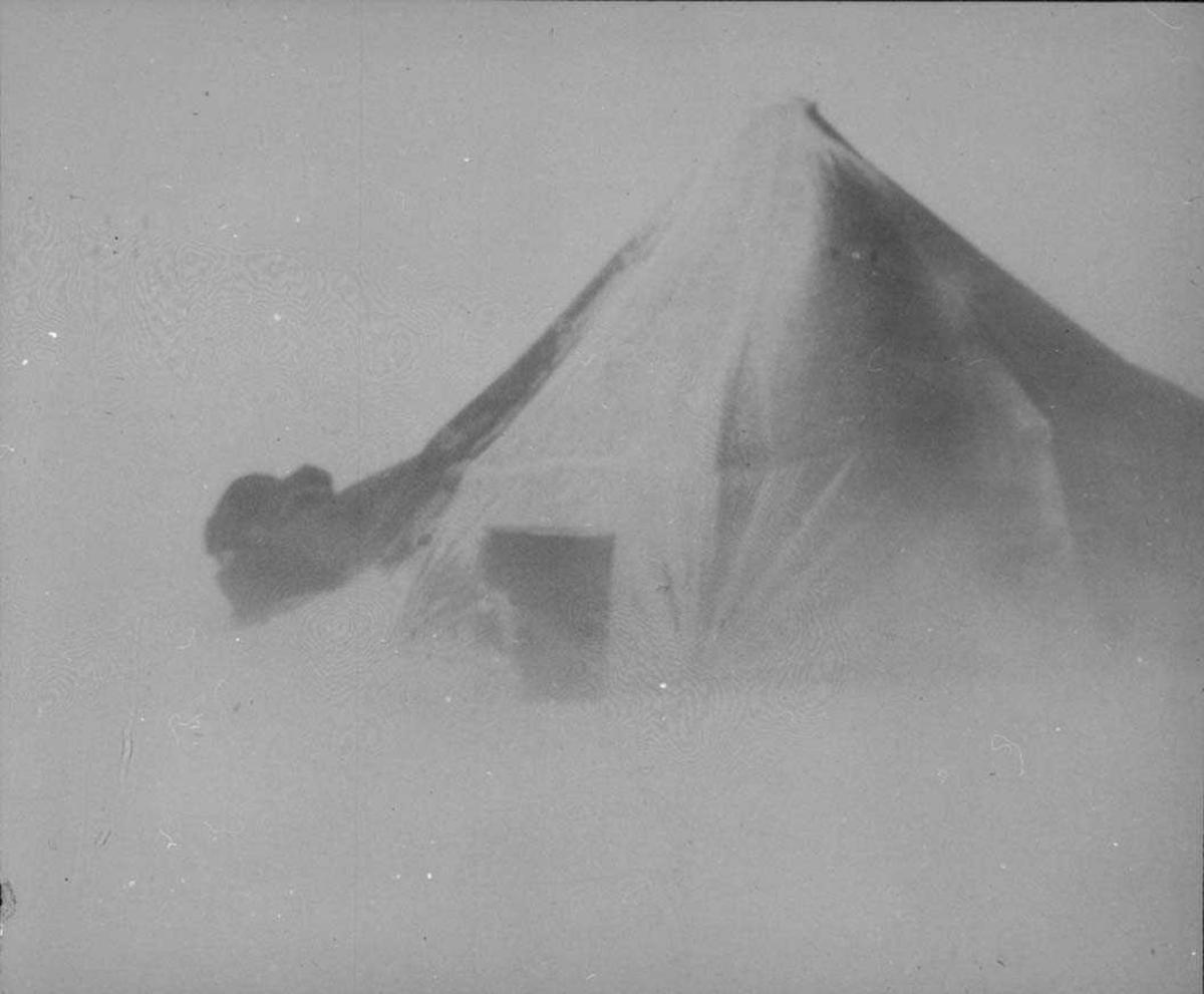 Ett telt på isen