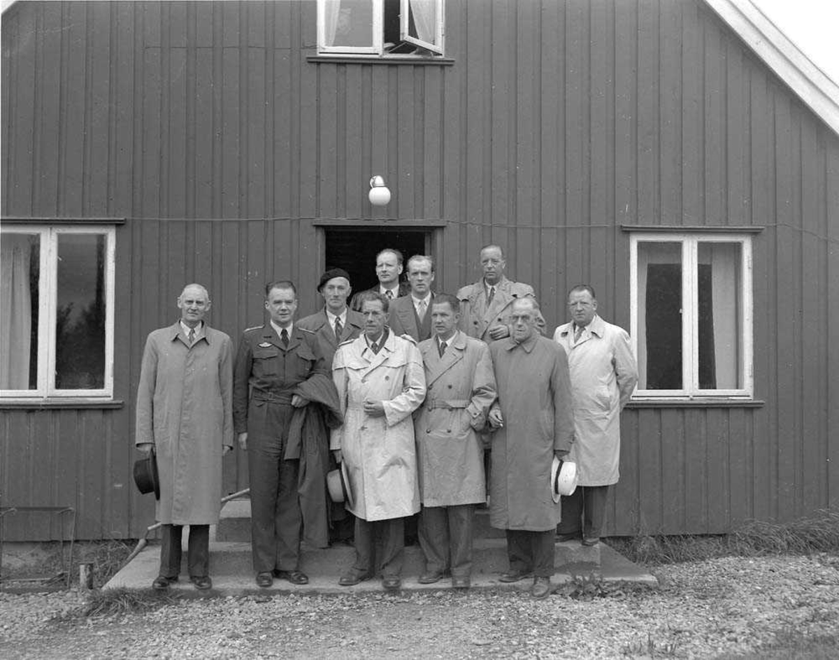 Militær-kommiteens besøk i Bodø.