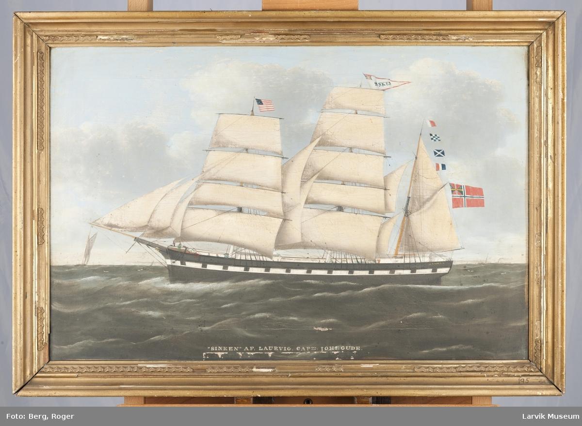 SINKEN Nasjon: Norsk Type: Bark Byggeår: 1847 Byggested: USA Endelig skjebne: Shediac - Sharpness. Forlist 1895 i St. Lawrence-gulfen.
