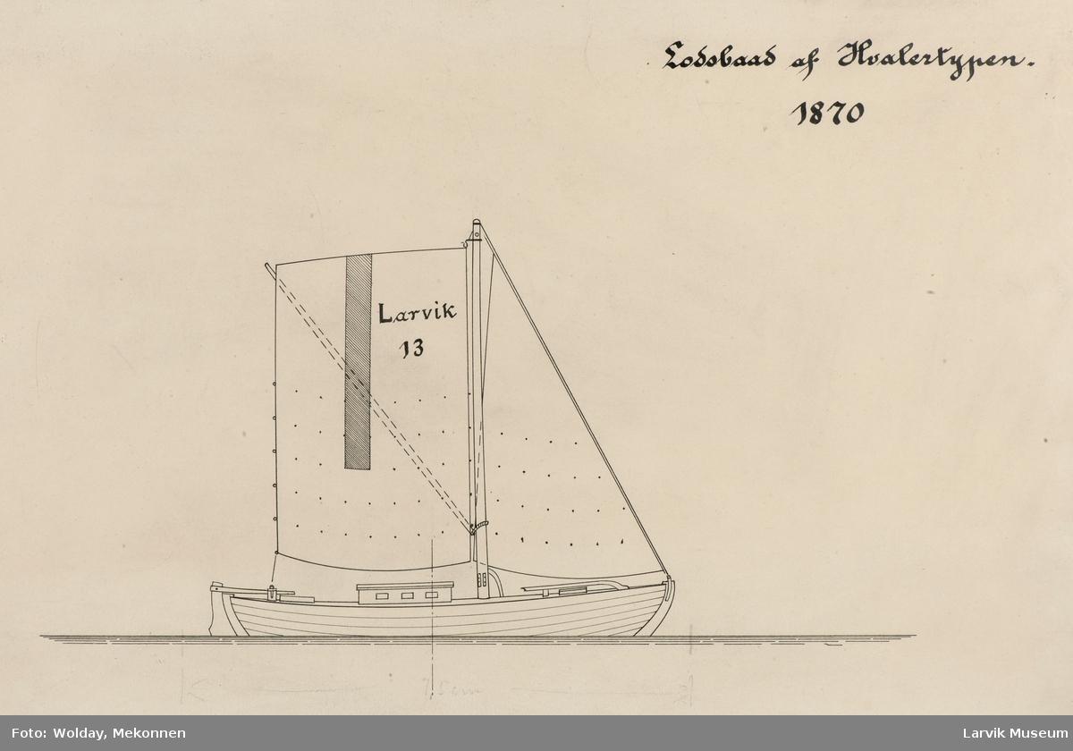 """""""Larvik 13"""", losbåt av Hvalertypen."""