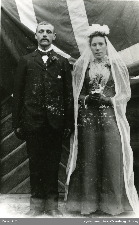 Brudeparet Alvhilde og Paul Wågø