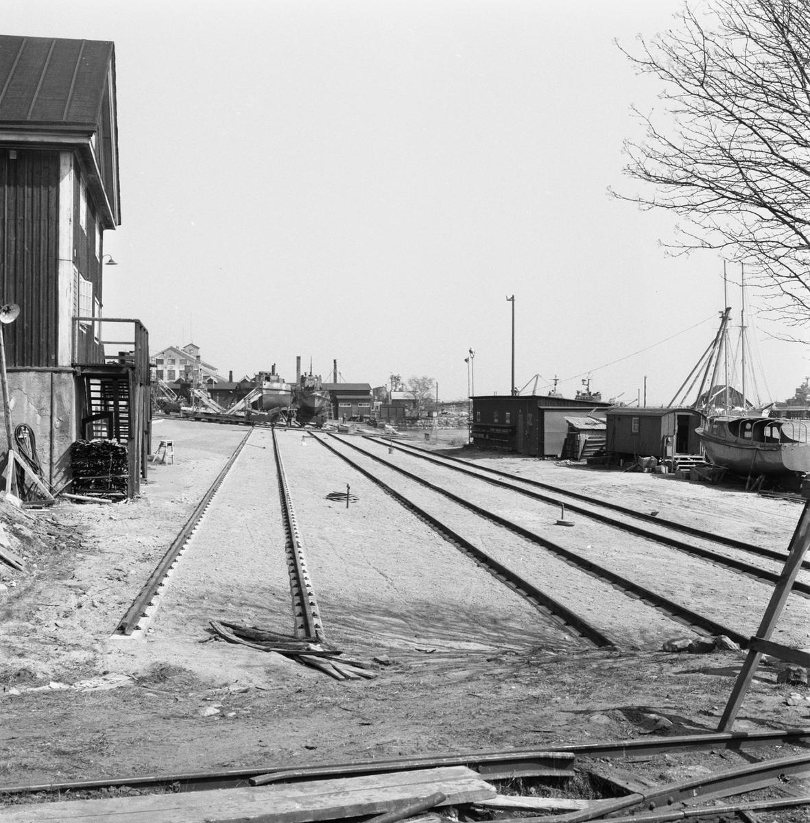 Övrigt: Fotodatum:20/4 1959 Byggnader och Kranar. Slipen omb. arb