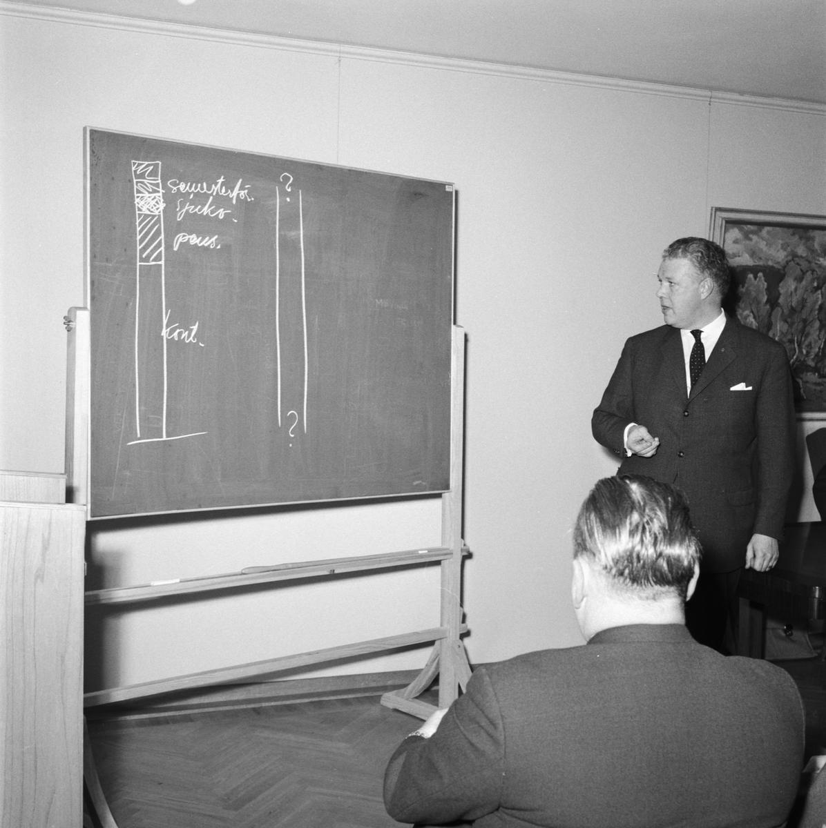 Övrigt: Foto datum: 15/11 1961 Byggnader och kranar FCTF möte