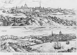 Stockholm omkring 1580. Kopparstick av Fr. Hogenberg efter t