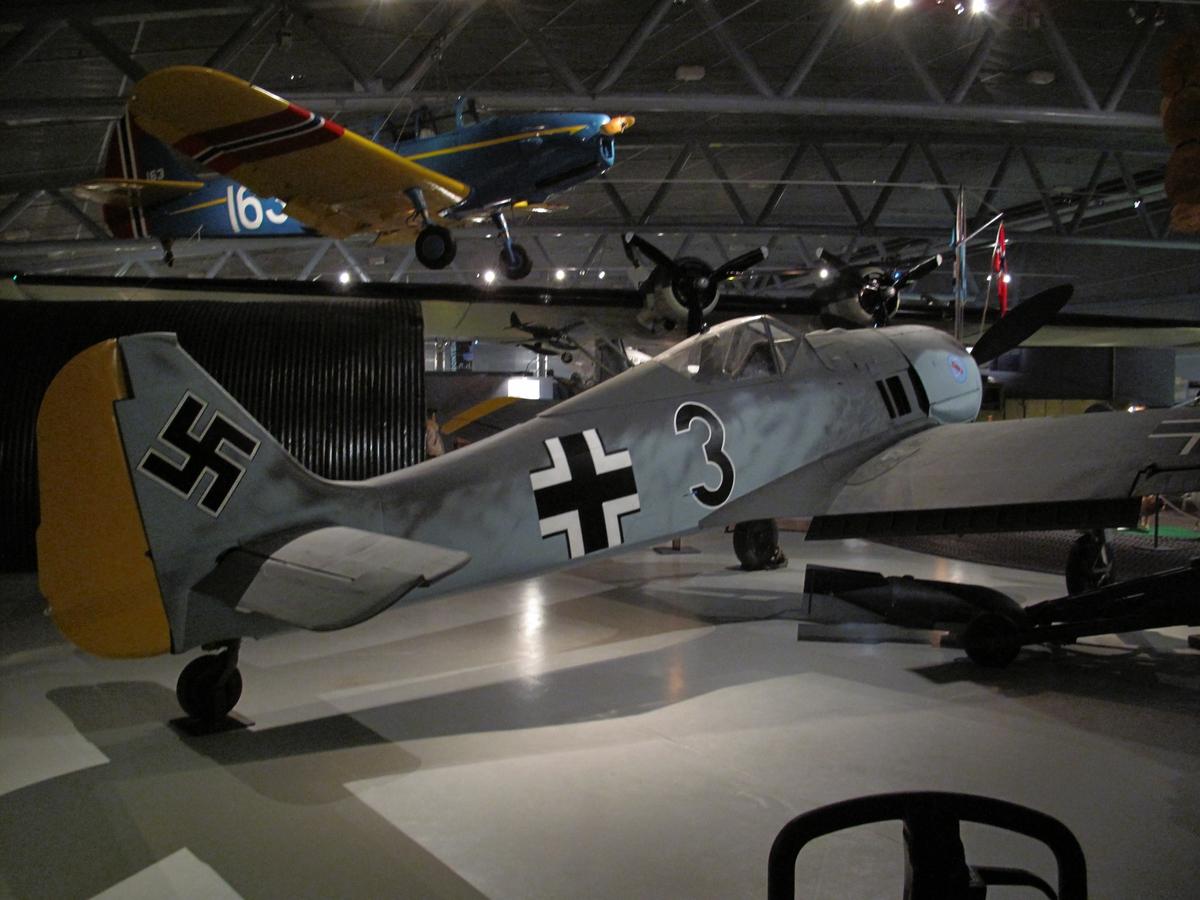 Tysk Focke Wulf FW 190A-3 tilhørende 14. (Jabo)/JG 5.