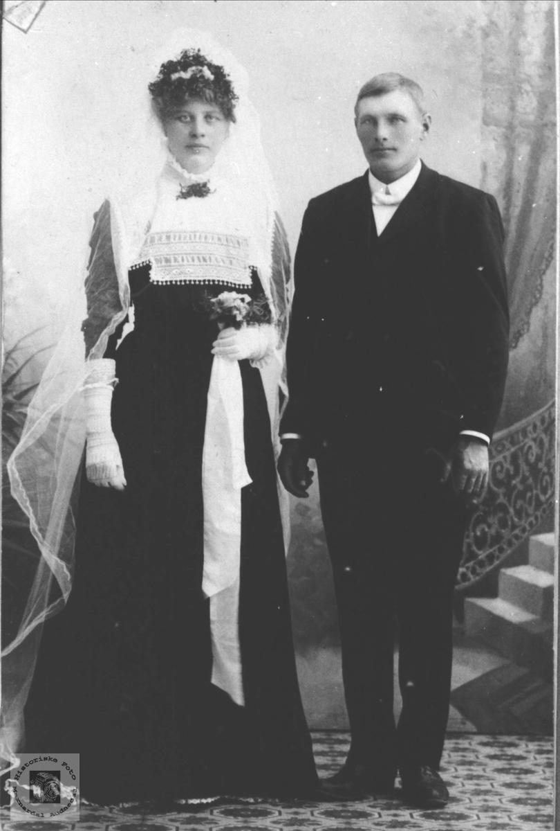 Brudeparet Anne Tomine og Thomas Fossestøl