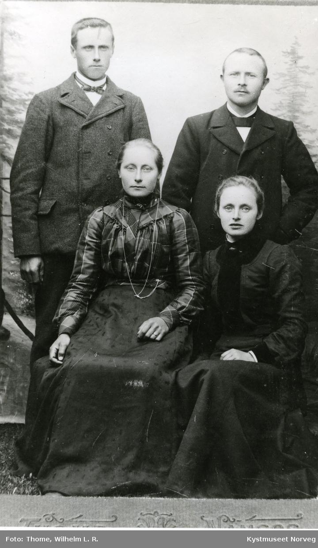 Hanna Mikalda Sæther, Fredrikke Marie Gjertsen, Nils Henrik Sæther og Rasmus Gjertsen