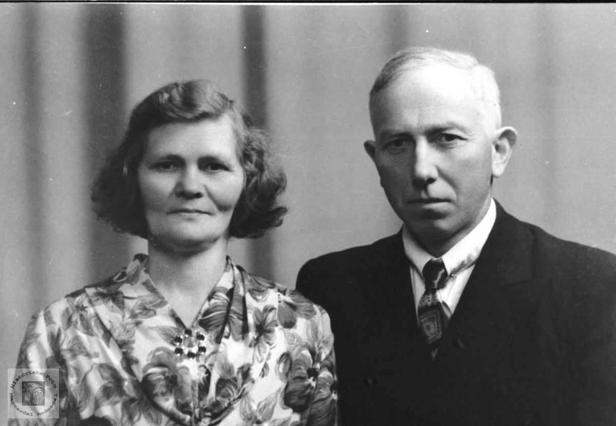 Ekteparet Anna og Knut Finsdal