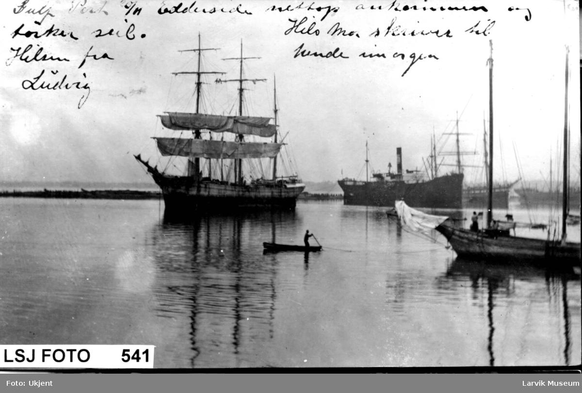 """fartøy, seilskip, jernbark """"Edderside"""""""
