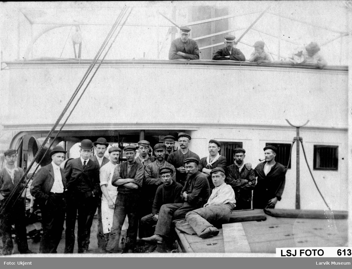 gruppebilde, båtmannskap, dampskip