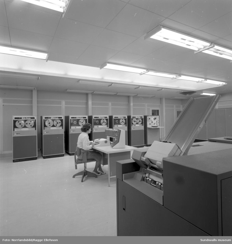 Skogsbrukets datacentral i nybyggda lokaler på Södra Allén.