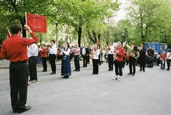 Firandet av den norska nationaldagen 17:e maj i Stockholm. F