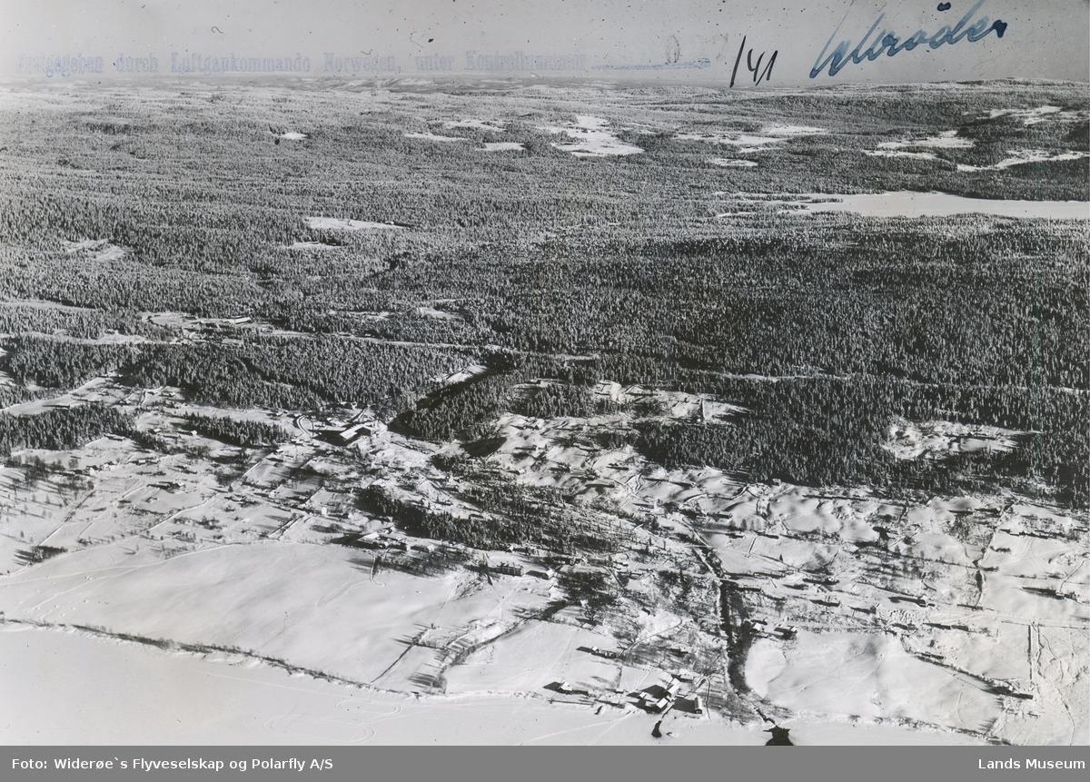 Flyfoto Oversikt over Fall og Holmen mølle