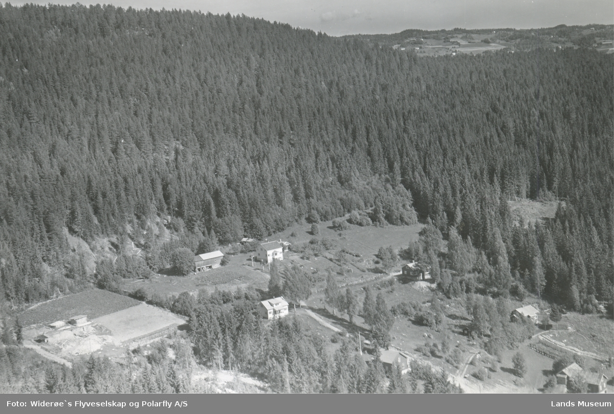 Flyfoto Villabebyggelse ved Kolterud (Lengeropp)