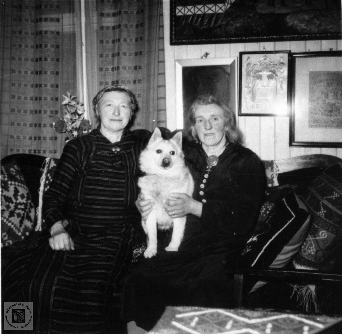 To søstre med felles venn. Anna og Ragna Kalvekleiv.