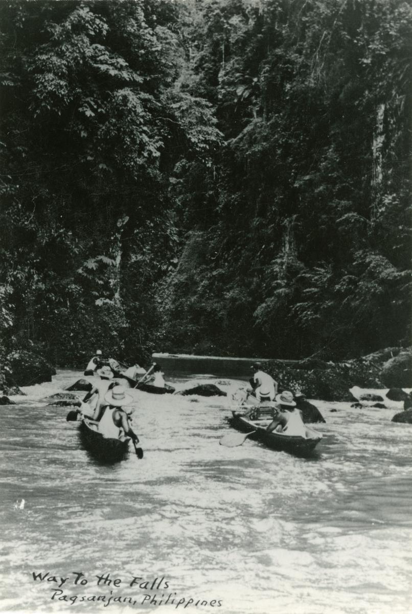 Pagsanjan Falls. - T/S 'Kingsville' (b.1956, Lithgows Ltd., Port Glasgo)  på Filippinene.