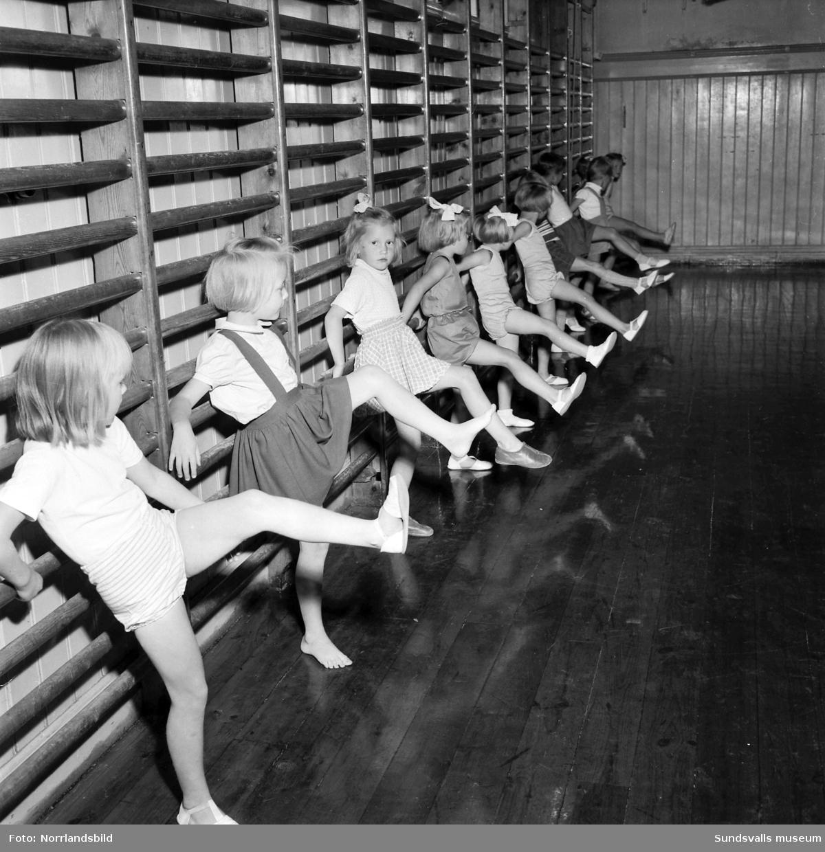 Rytmisk gymnastik för barn.