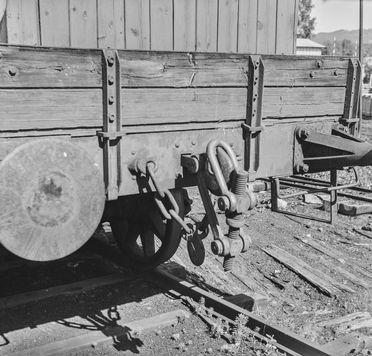 Endepartiet på en gammel godsvogn type M