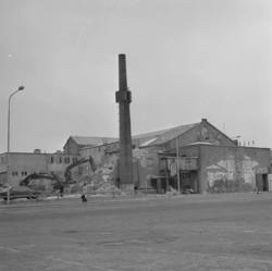 Rivning av Kampenhof, 25 februari  1982