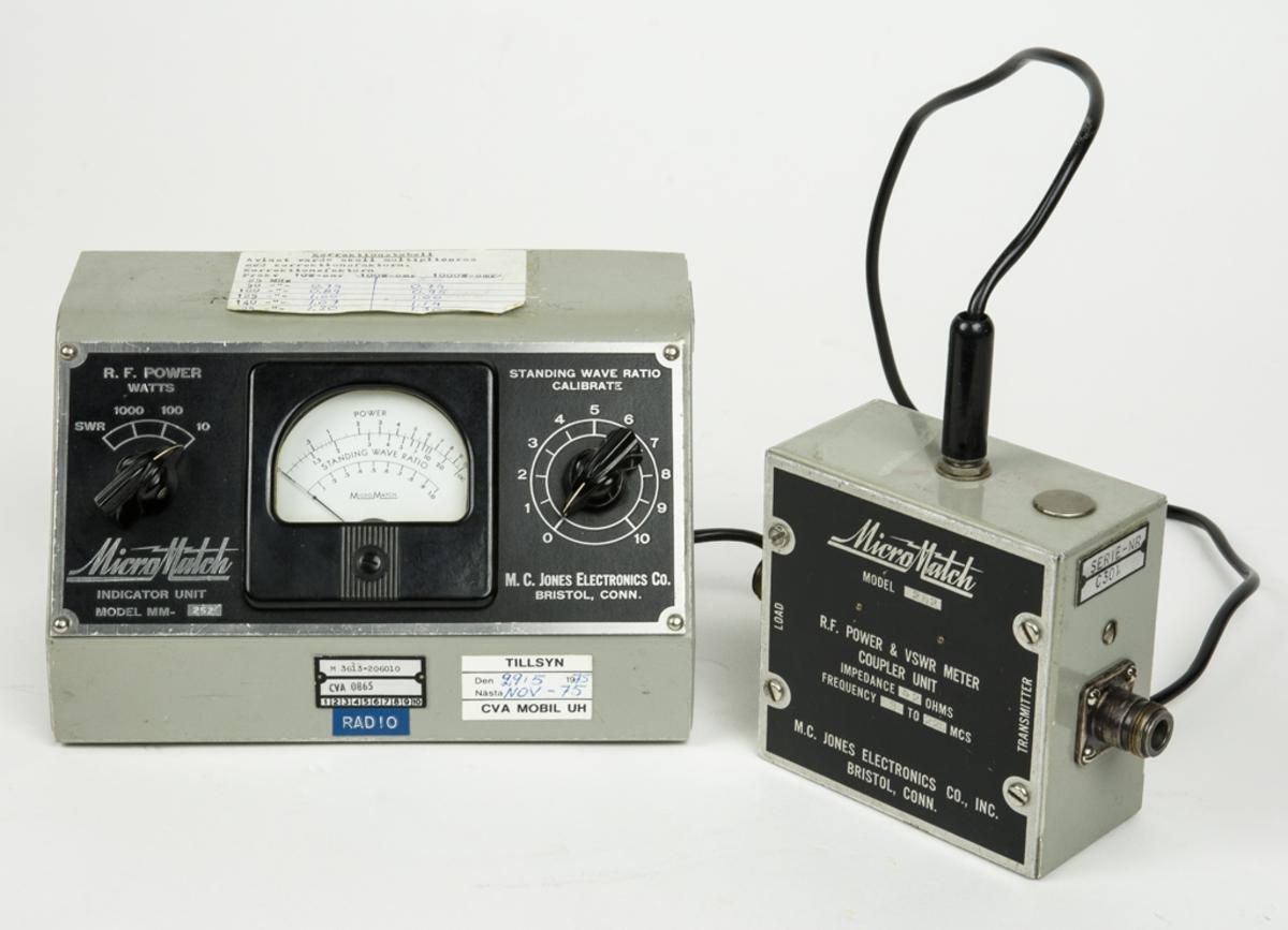 Indikator med kopplingsenhet modell MM252. Är mätare och kalibrator där avläst värde skall multipliceras med korrektionsfaktor.