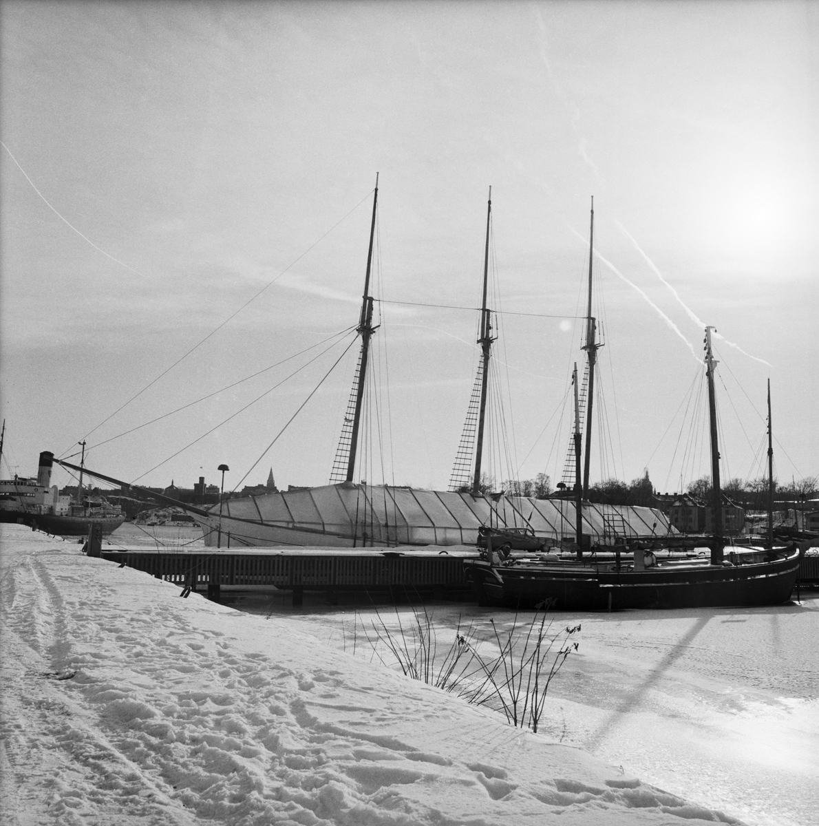 """Övrigt: Segelfartyg Galärvarvet """"Fototillfälle 1986?"""""""