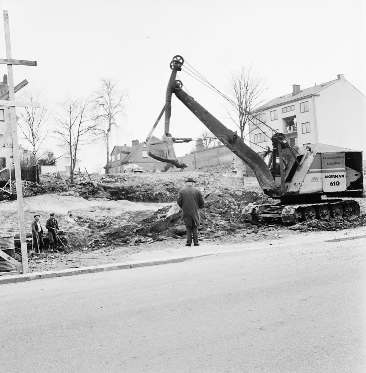 Övrigt: Foto datum: 27/4 1965 Byggnader och kranar Kvarteret pollux