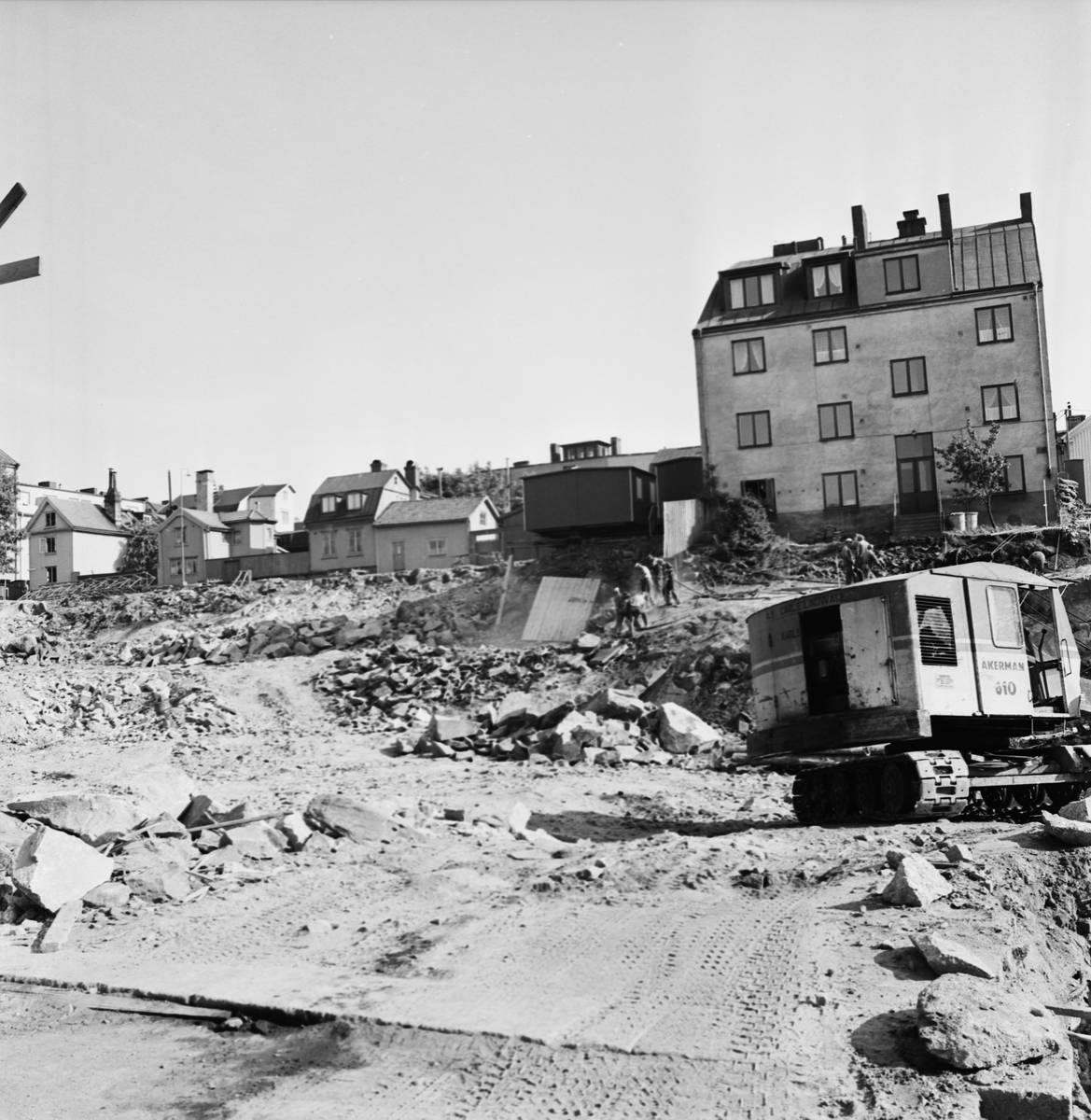 Övrigt: Foto datum: 15/6 1965 Byggnader och kranar Kvarteret pollux