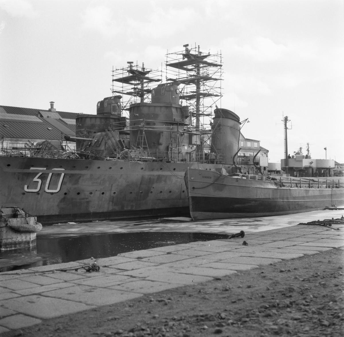 Rederi: Kungliga Flottan, Marinen Övrigt: Vid kaj Gotland, Mode och Magne