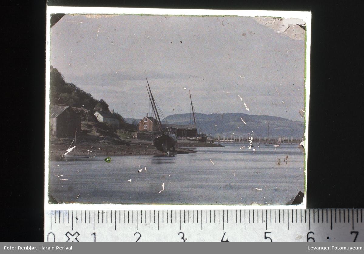 Båter på land i Levangersundet